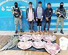 A turtle poaching arrest by the Marine Police in Semporna.