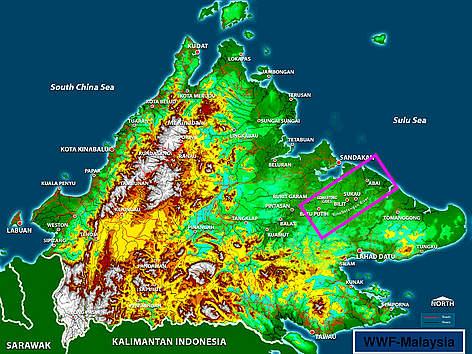 Kinabatangan - Corridor of Life map rel=