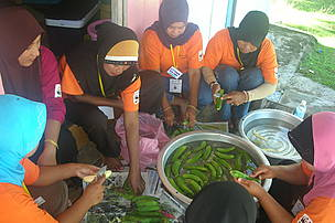 OMA (Omadal Manampilik Agar) Womens Group Sabah visits PEWANIS (Persatuan Wanita Kampung Mangkuk Setiu, Setiu, Terengganu, Malaysia. Many activities was conducted for 2 days - 12th Nov - 13th Nov such as making kerepek (banana chips), farewell dinner, exchanging of gifts and many more.